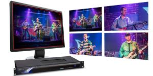 Datavideo KMU100 with quad split view